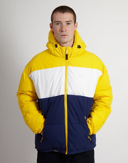 Schott NYC - Hooded Polyfill Jacket Yellow & Royal Blue