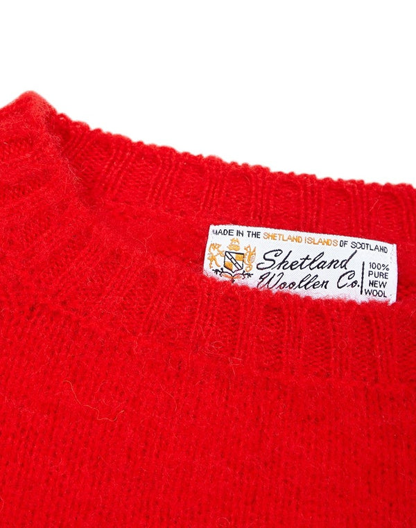 Shetland Woollen Co. - Crew Neck Shaggy Red