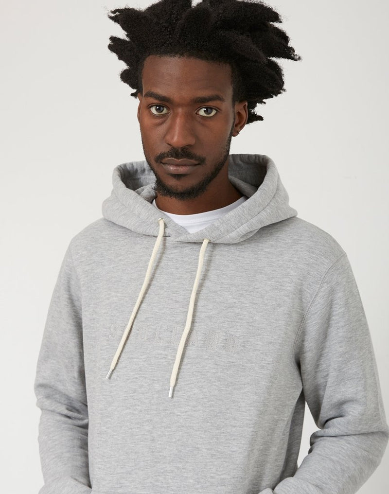 Soulland - Guy Hooded Embroidered Logo Sweatshirt Grey