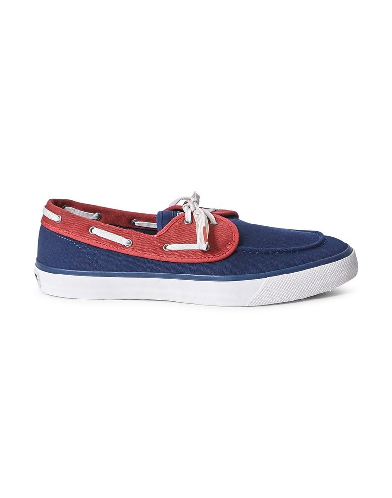 Sperry - Casual Canvas 2 Eye Boat Shoe Navy & Red