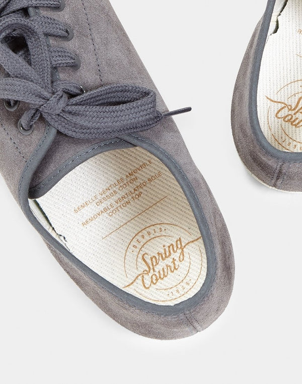 Spring Court - G2 Suede Plimsoll Slate