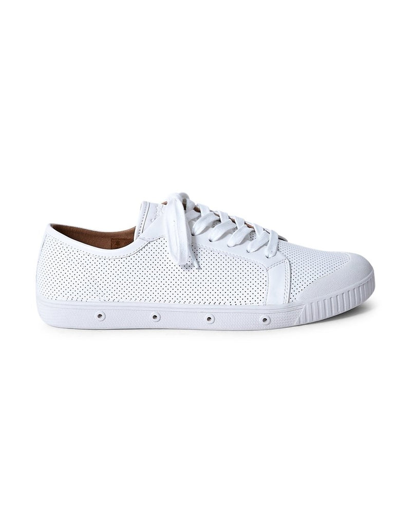 Spring Court - G2 Punch Leather Plimsoll White