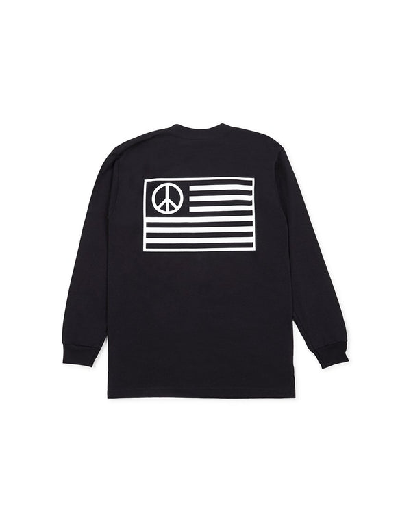 Stan Ray - Peace Stripe Long Sleeve T-Shirt Black