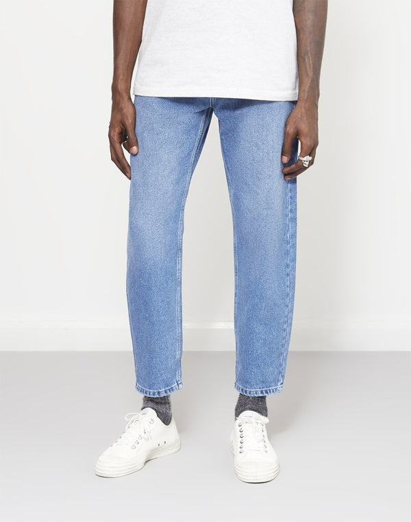 The Idle Man - Straight Leg Dad Fit Stonewash Jeans