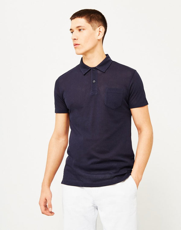 Sunspel - Short Sleeve Riviera Polo Shirt Navy