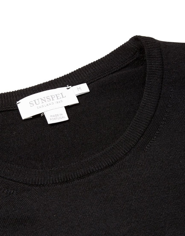 Sunspel - Crew Neck Jumper Black