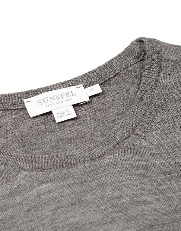 Sunspel - Crew Neck Jumper Grey