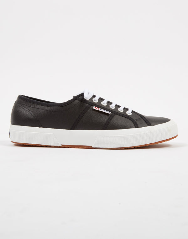 Superga - 2750 EFGLU Leather Black White