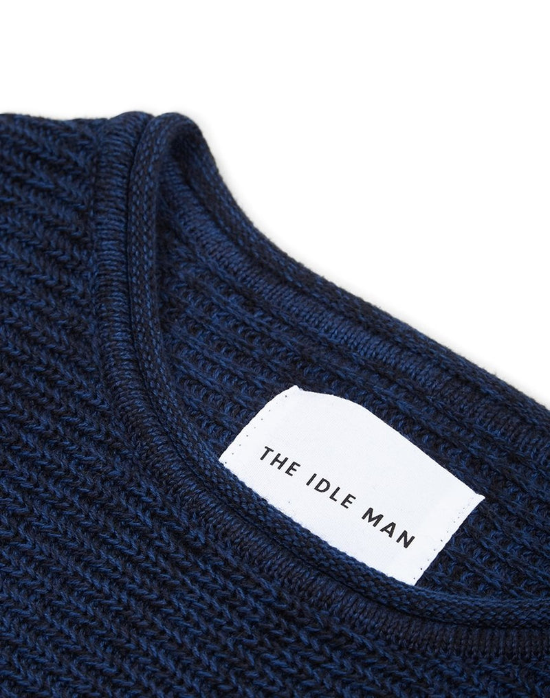 The Idle Man - 5 Colour Knitted Jumper Blue