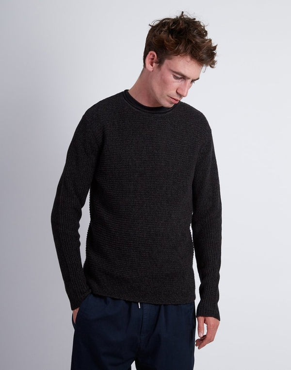 The Idle Man - 5 Colour Knitted Jumper Dark Grey
