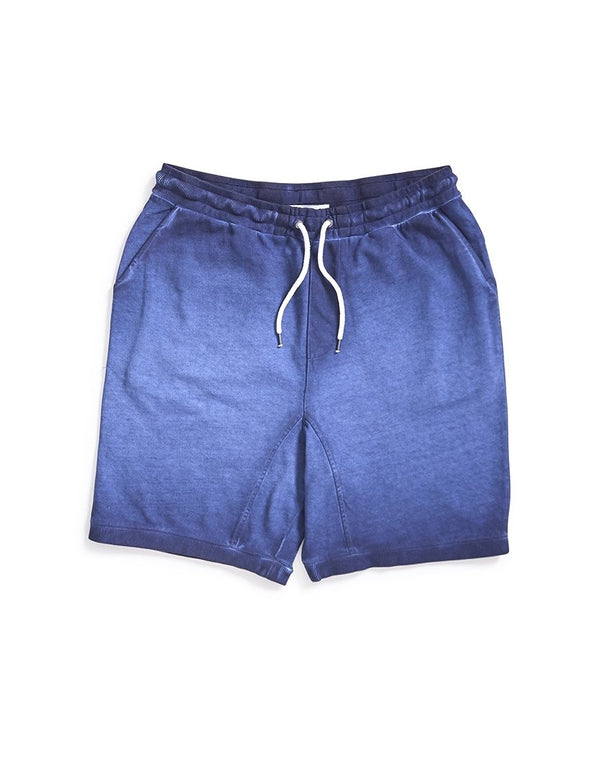 The Idle Man - Acid Wash Jersey Short Navy