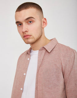 The Idle Man - Chambray Shirt Pink