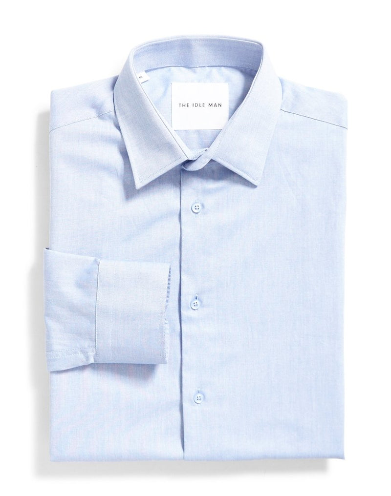 The Idle Man - Smart Regular Oxford Shirt Blue