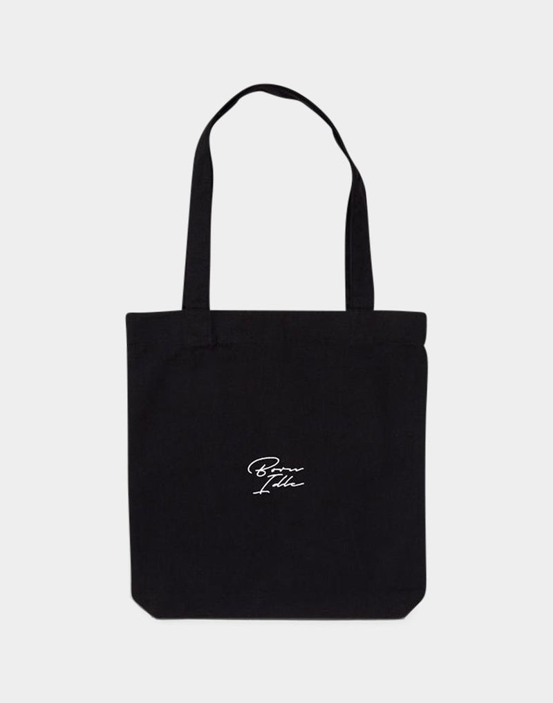 The Idle Man - Born Idle Signature Tote Bag Black