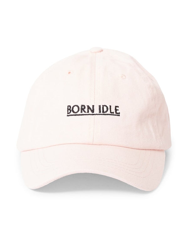 The Idle Man - Born Idle Underline Embroidered Cap Pink
