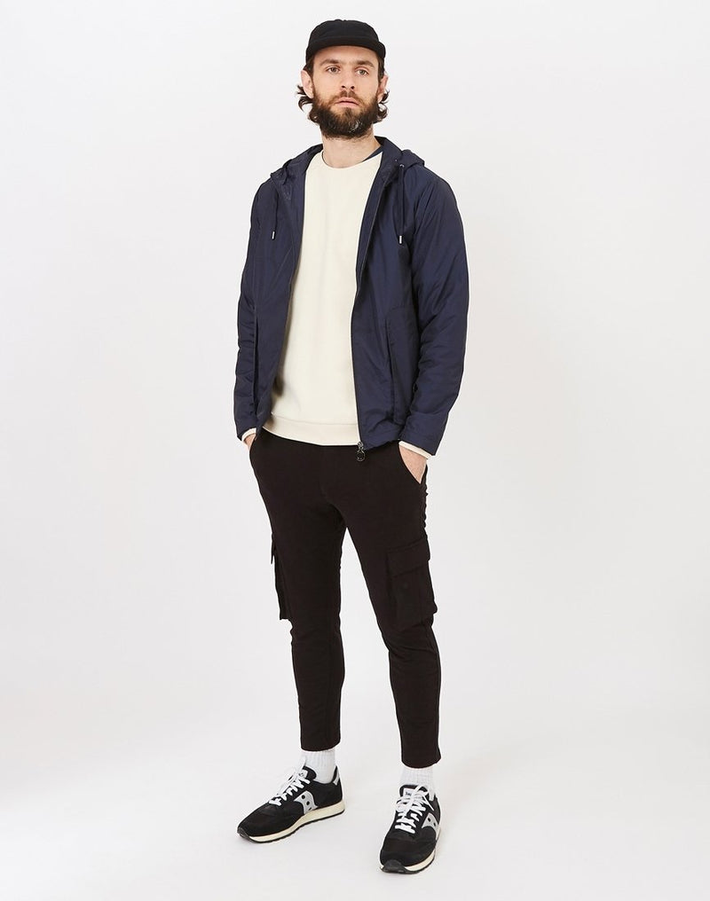 The Idle Man - Cargo Joggers Black