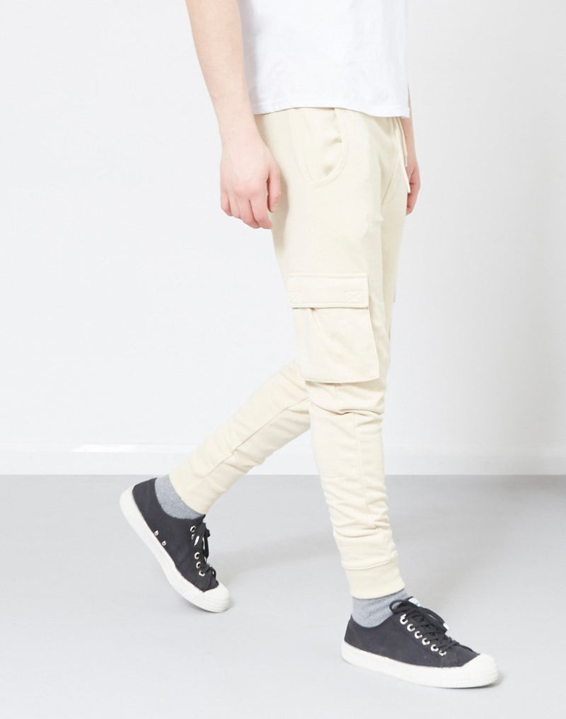 The Idle Man - Cargo Joggers Stone