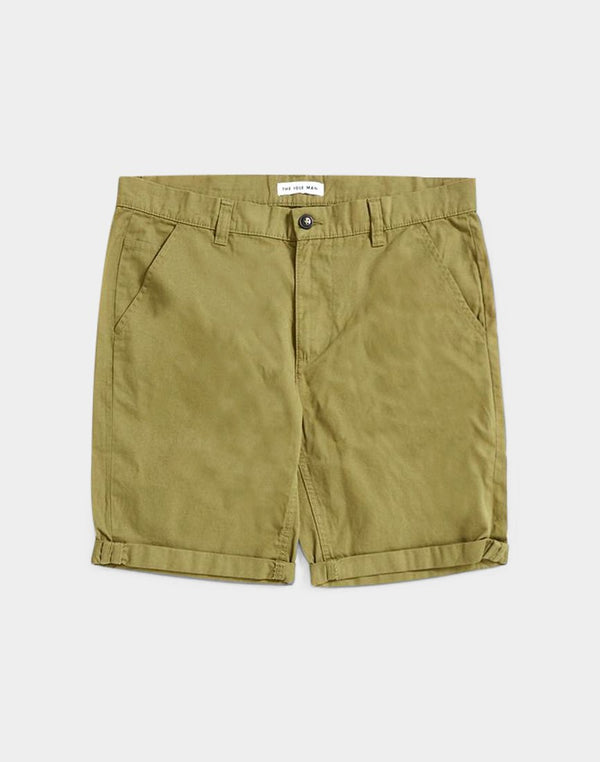 The Idle Man - Chino Shorts Olive