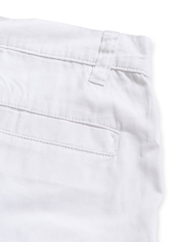 The Idle Man - Chino Shorts White