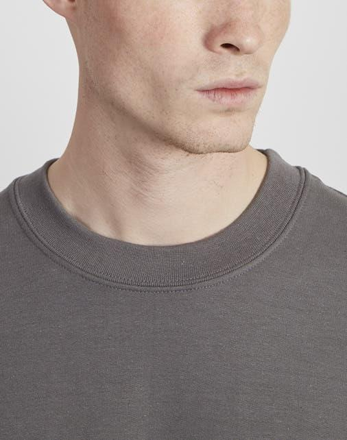 The Idle Man - Basic Sweatshirt Charcoal