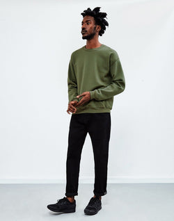 The Idle Man - Basic Sweatshirt Green