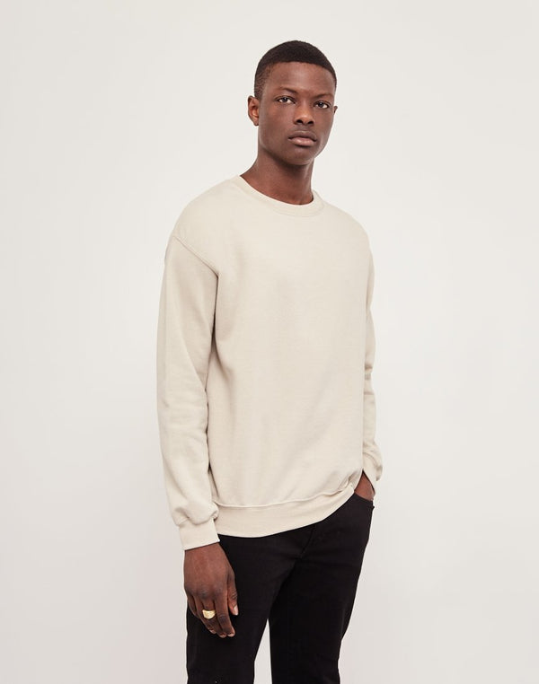 The Idle Man - Basic Sweatshirt Stone