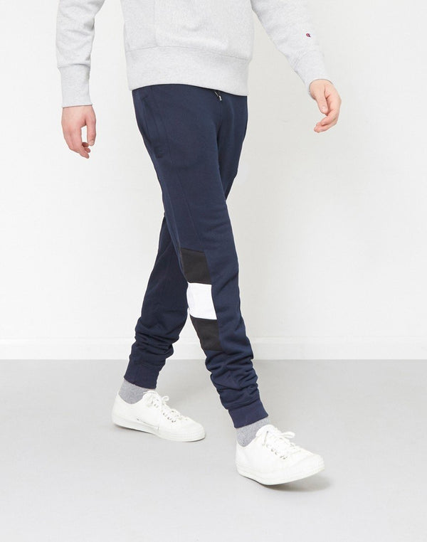 The Idle Man - Contrast Panel Jogger Navy