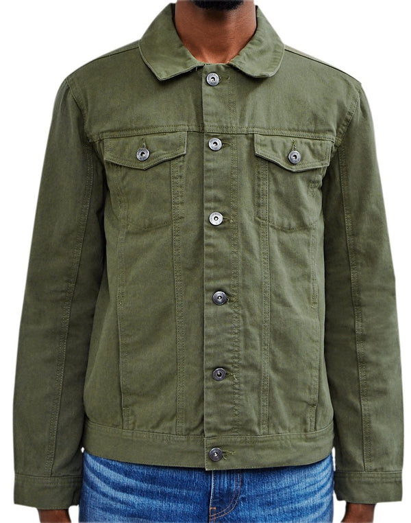 The Idle Man - Denim Jacket Green