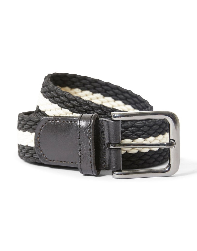 The Idle Man - Elastic Weave Belt Black & White