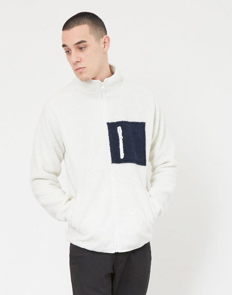 The Idle Man - Fleece with Pocket White