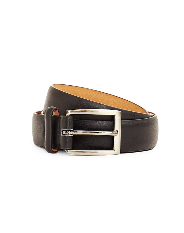 The Idle Man - Feather Edge Suit Belt Black