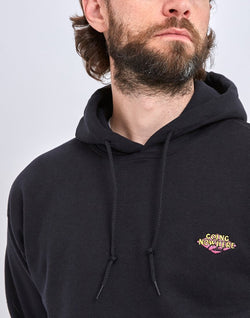 The Idle Man - Going Nowhere Club Diamond Embroidery Overhead Hoodie Black