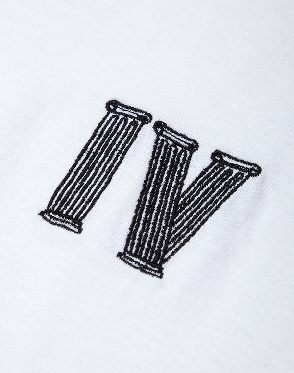 The Idle Man - IV Embroidered T-Shirt White