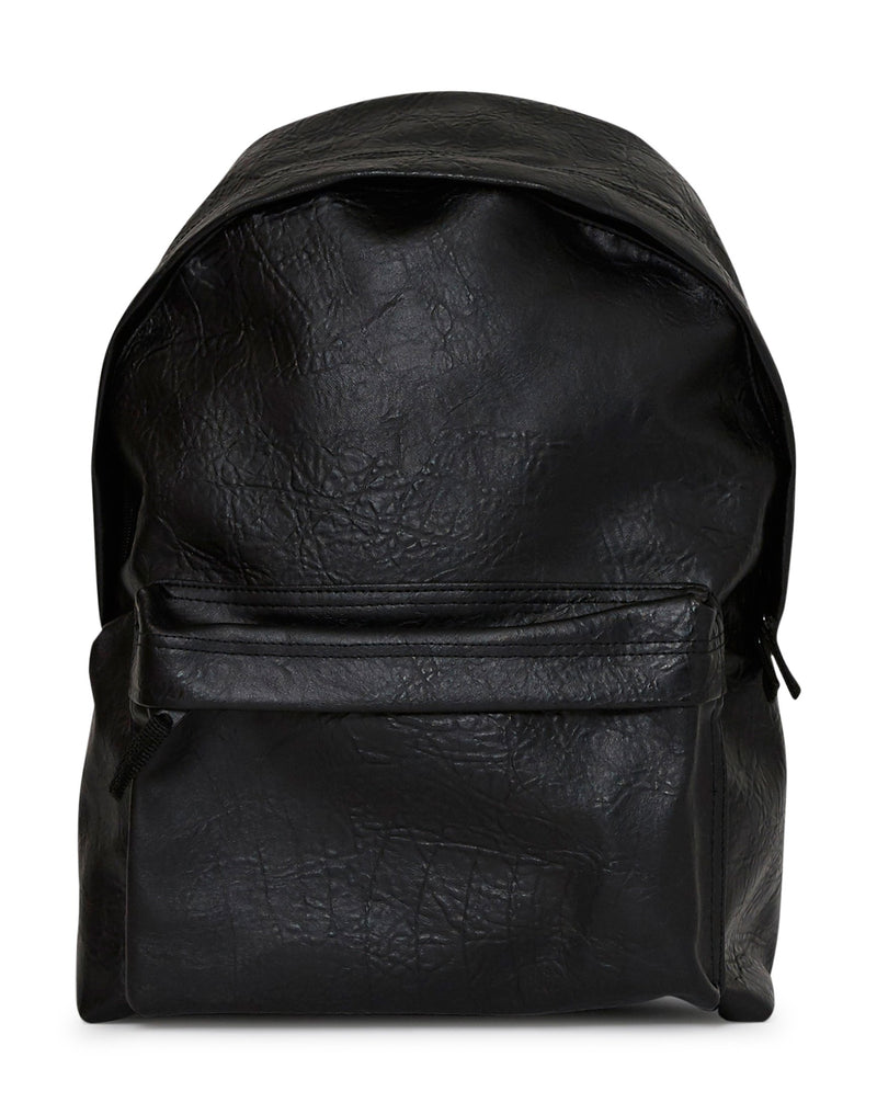 The Idle Man - Leather Look Backpack Black