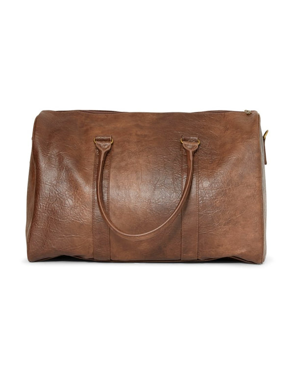 The Idle Man - Leather Look Overnight Bag Tan
