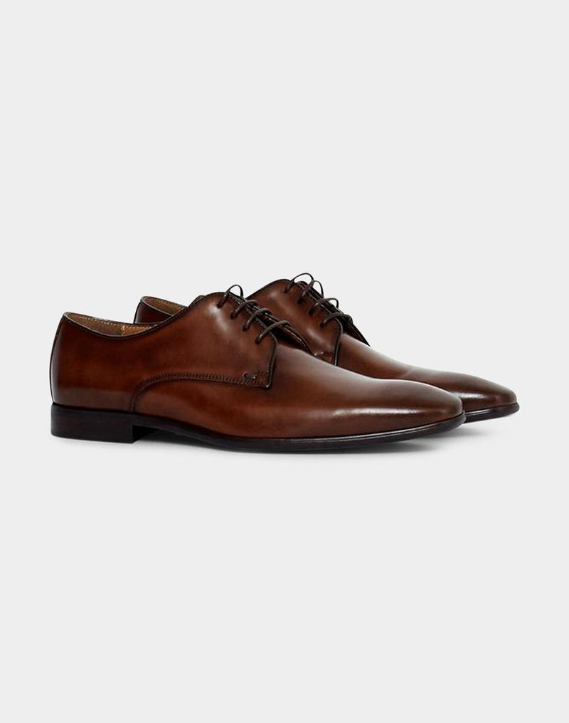 The Idle Man - Leather Smart Shoe Tan