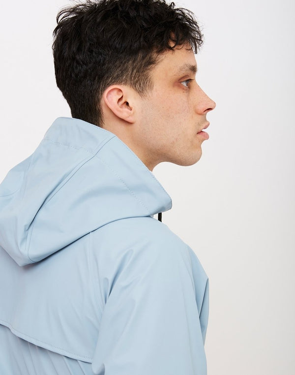 The Idle Man - Lightweight Rubber Rain Jacket Blue