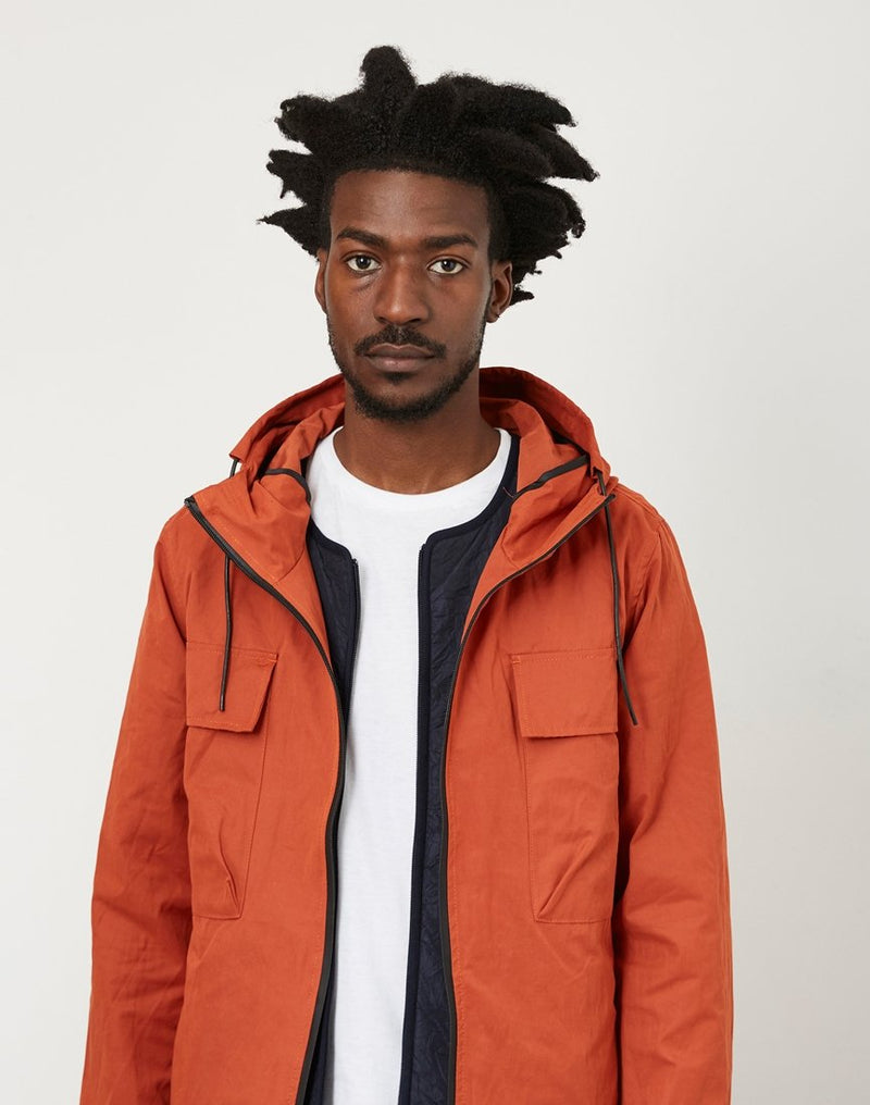 The Idle Man - Lightweight Twin Pocket Parka Rust