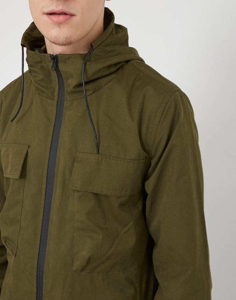 The Idle Man - Lightweight Twin Pocket Parka Green