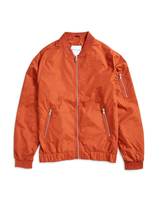 The Idle Man - Lightweight Zip Bomber Jacket Rust