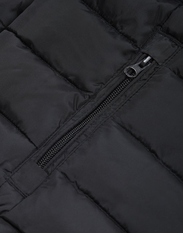 The Idle Man - Liner Puffer Jacket Black