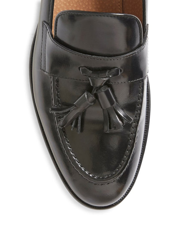 The Idle Man - Leather Loafer Black