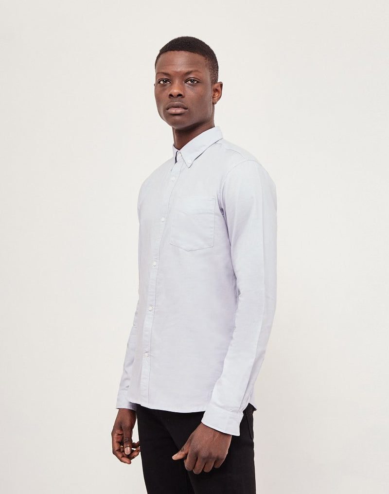 The Idle Man - Casual Oxford Shirt Blue