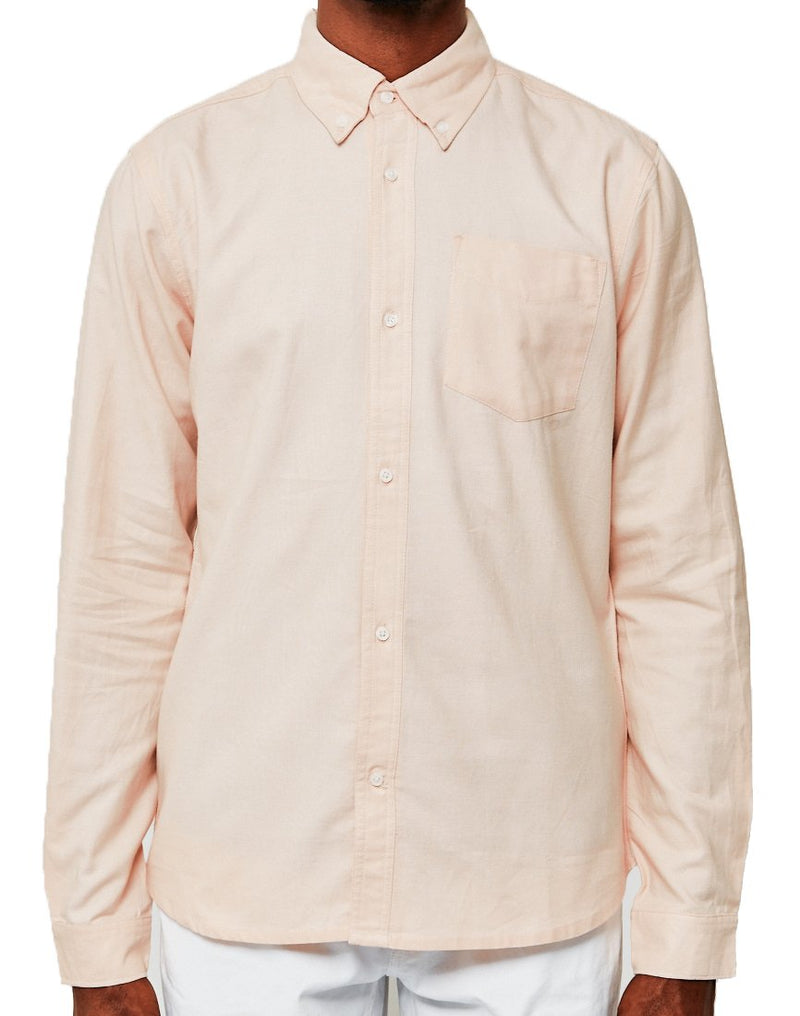 The Idle Man - Casual Oxford Shirt Pink