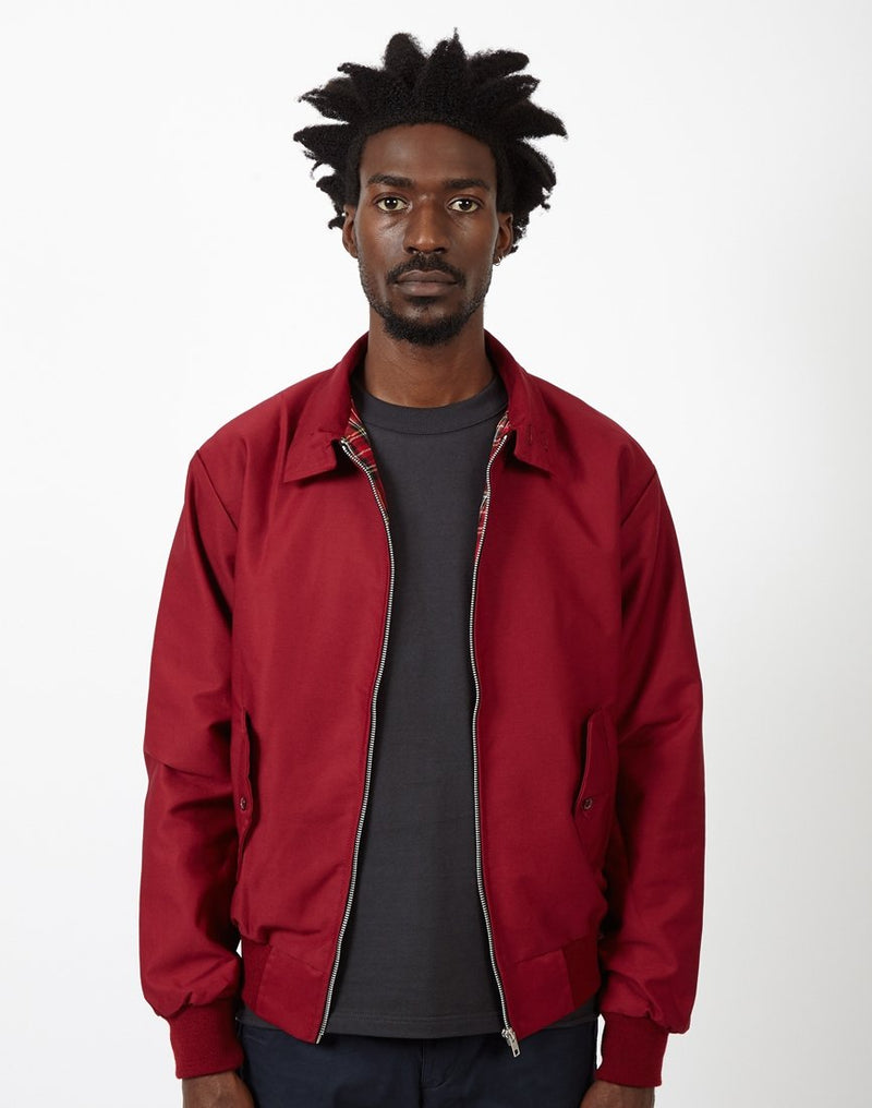 The Idle Man - Made In England Vintage Harrington Jacket Burgundy