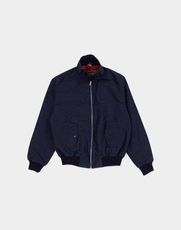 The Idle Man - Made In England Vintage Harrington Jacket Navy