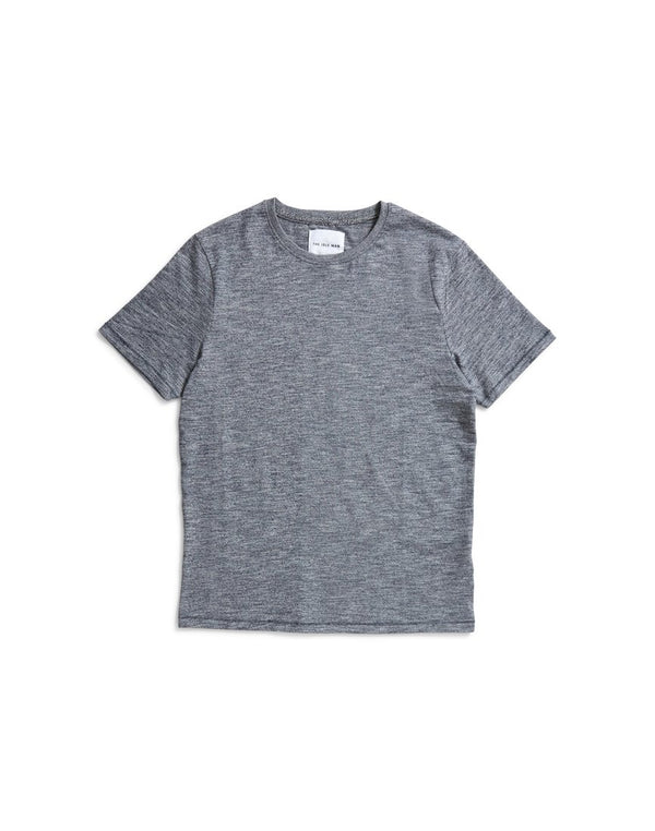 The Idle Man - Melange Slim T-Shirt Navy