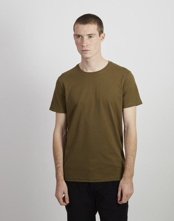 The Idle Man - Organic Heavyweight  T-shirt Khaki