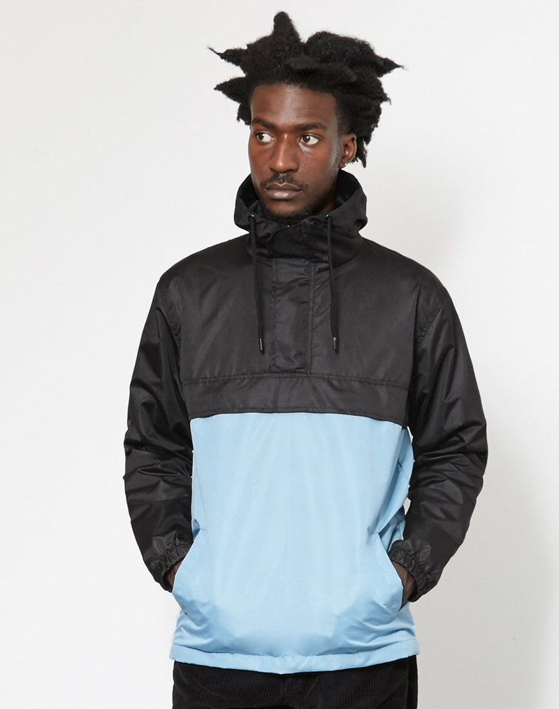The Idle Man - Overhead Pullover Jacket Black & Blue