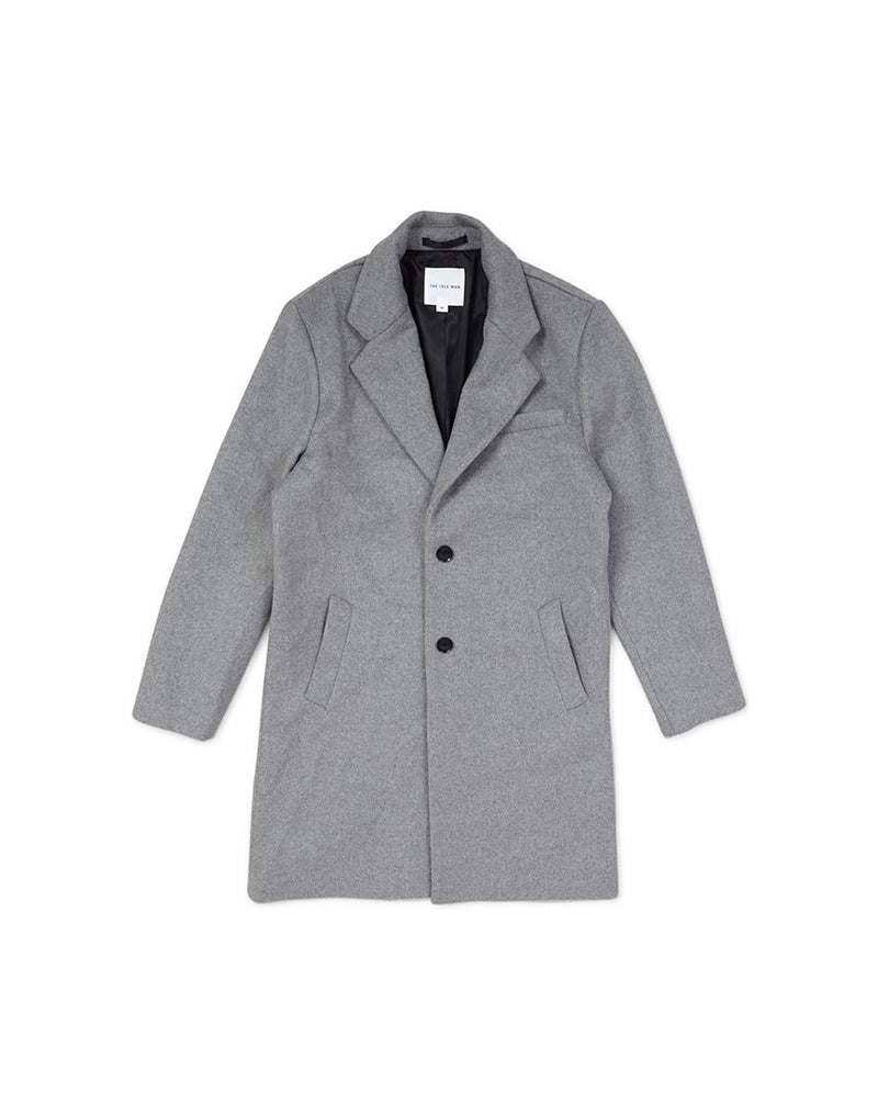 The Idle Man - Wool Blend Overcoat Grey